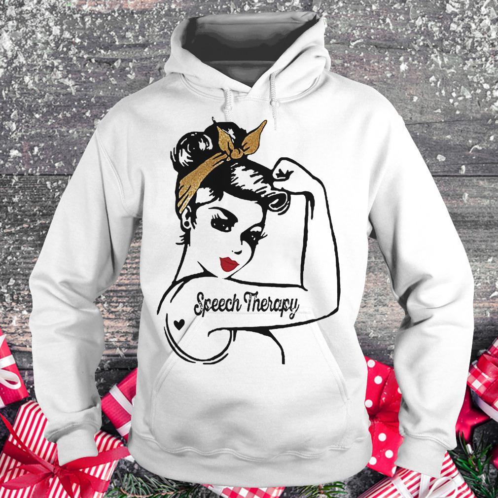 Speech Therapy girl shirt Hoodie