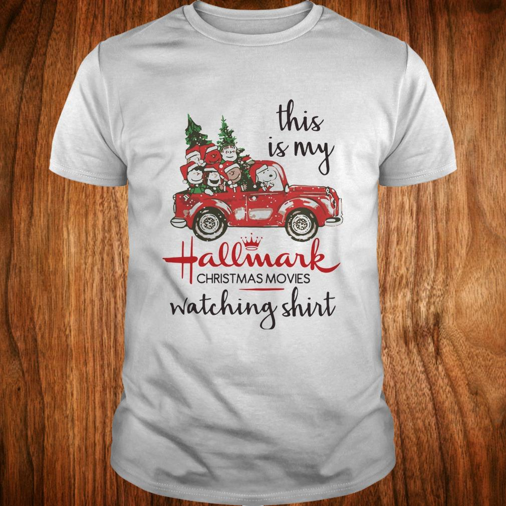 The Best Snoopy this is my Hallmark christmas movie watching shirt