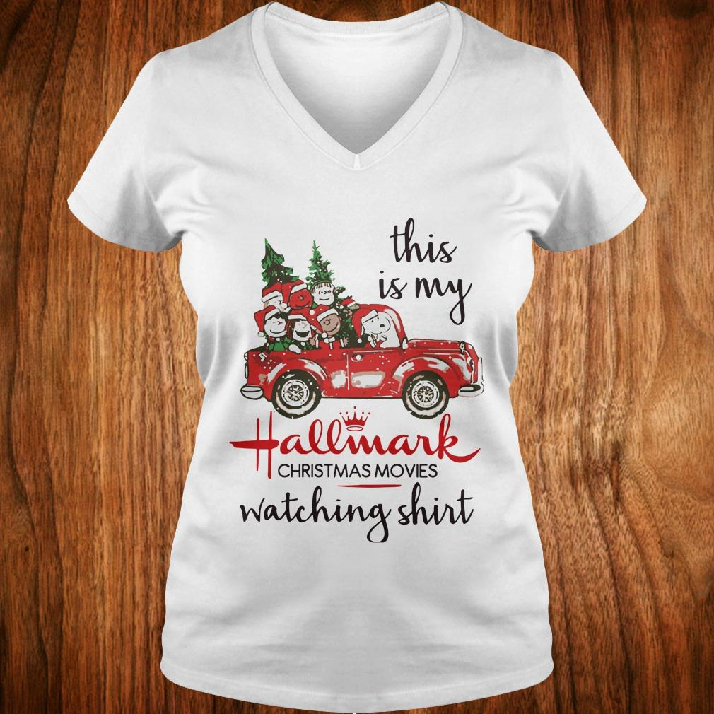 The Best Snoopy this is my Hallmark christmas movie watching shirt Ladies V-Neck