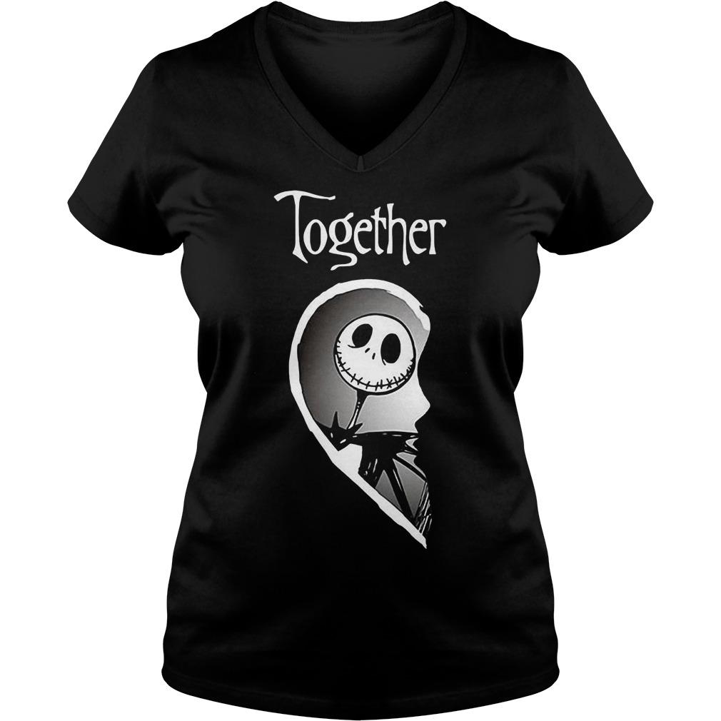 Together Jack Skellington shirt Ladies V-Neck