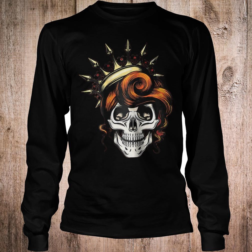 Womens Skeleton Queen shirt Longsleeve Tee Unisex