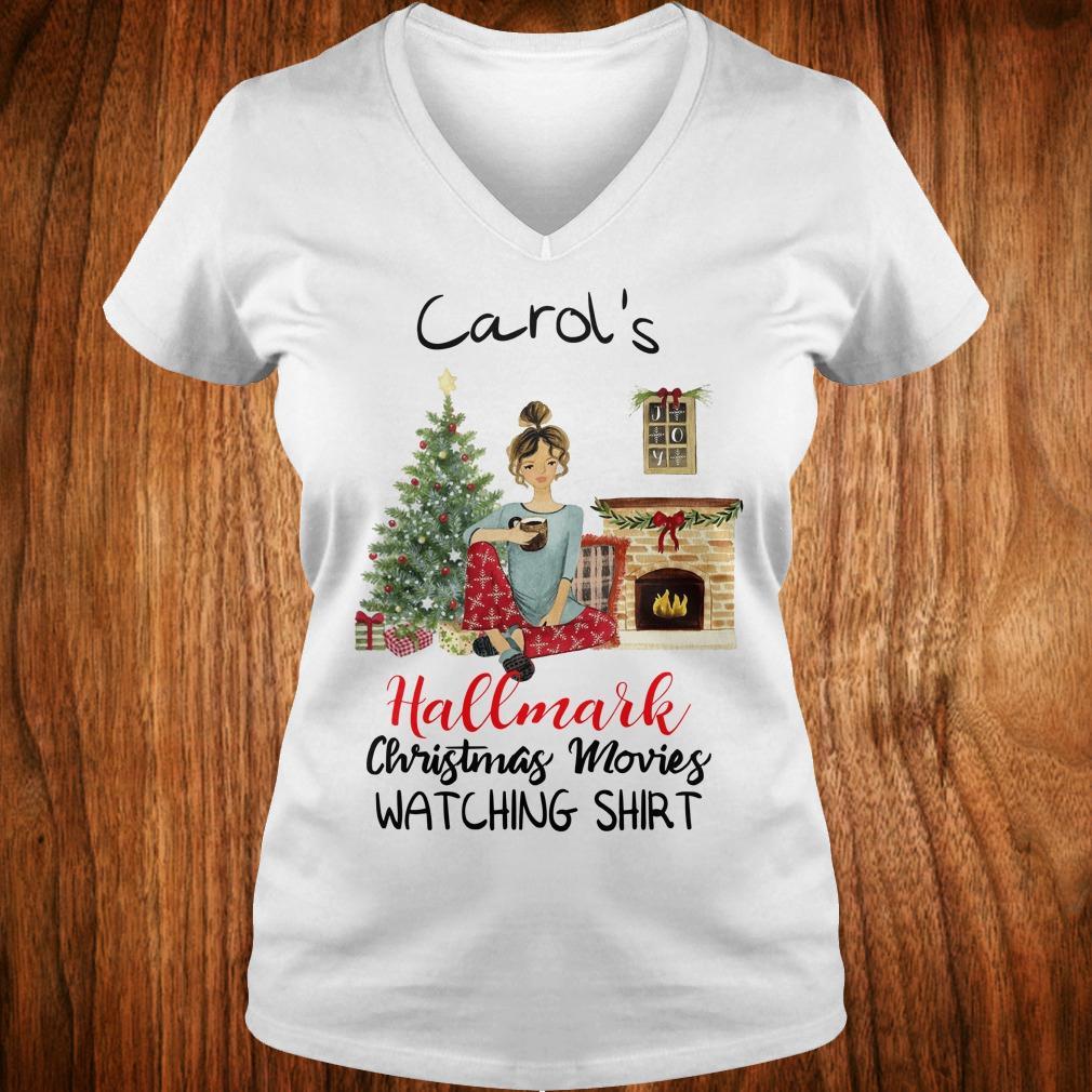 Best Price Carol's This is My Hallmark Christmas Movie Watching Shirt Ladies V-Neck