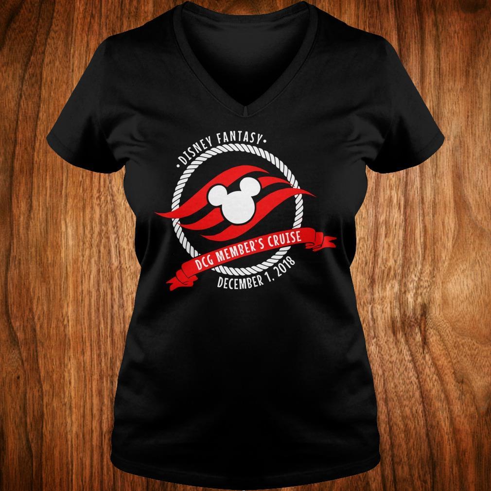 Best Price Disney fantasy DCG Member's Cruise shirt Ladies V-Neck