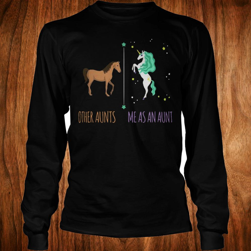 Best Price Other aunts horse Me as an aunt unicorn shirt Longsleeve Tee Unisex