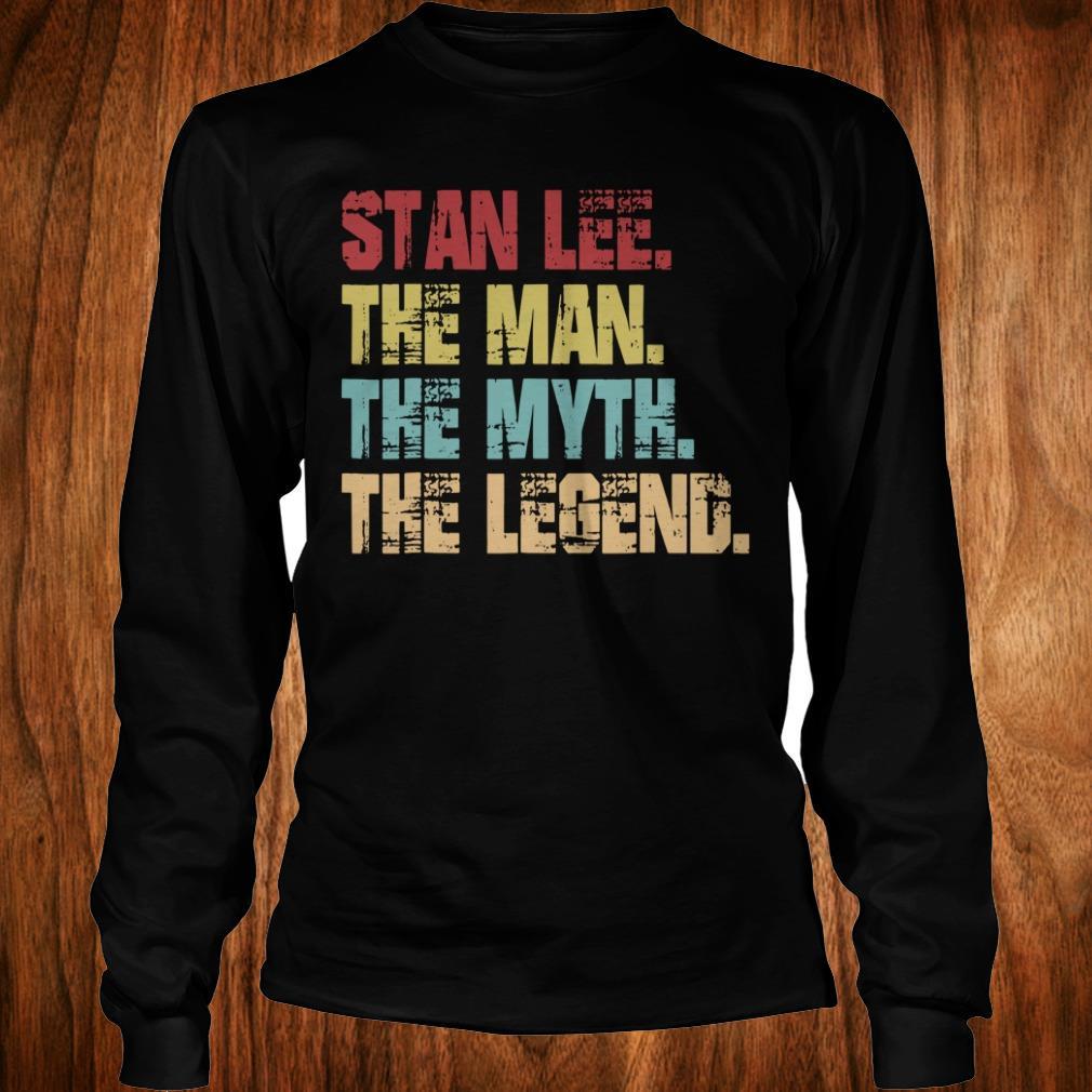 Best Price Stan Lee The Man The Myth The Legend shirt Longsleeve Tee Unisex