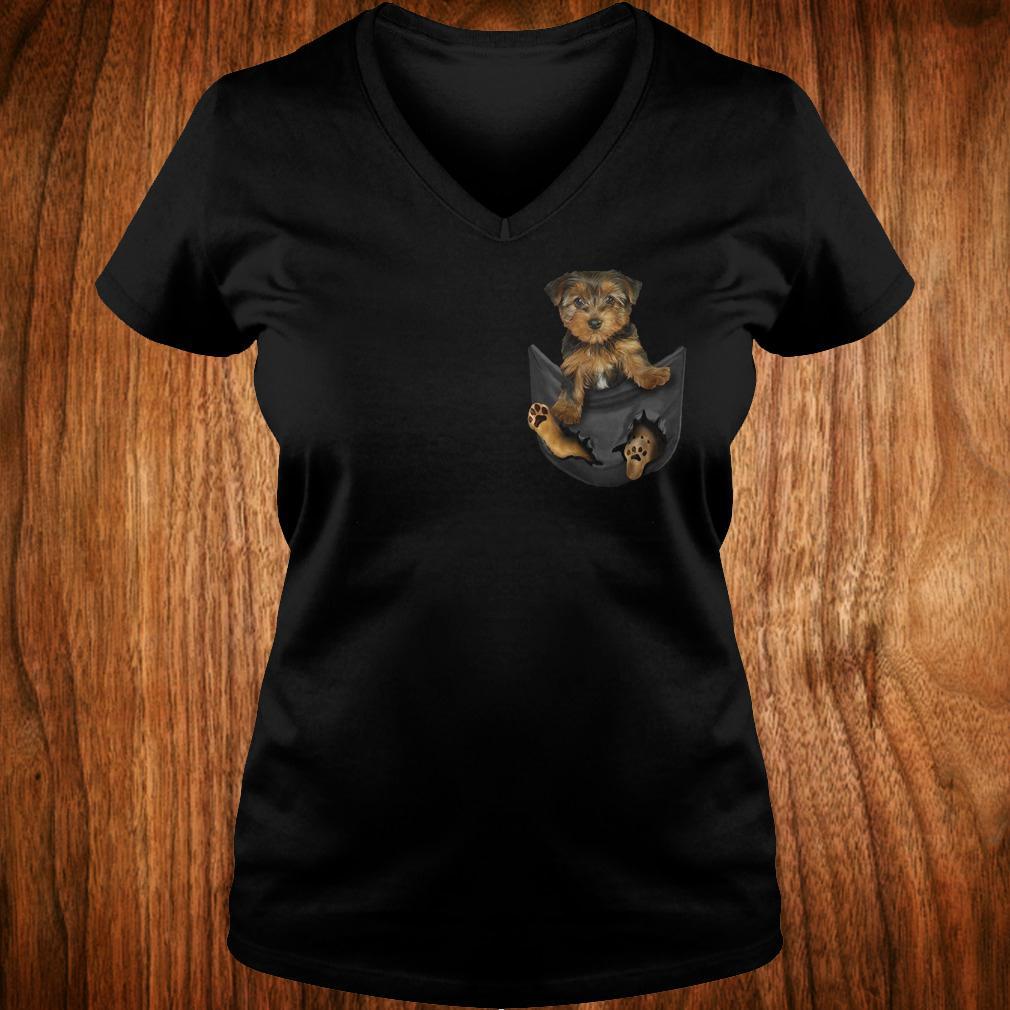 Best Price Yorkies Tiny Pocket shirt Ladies V-Neck
