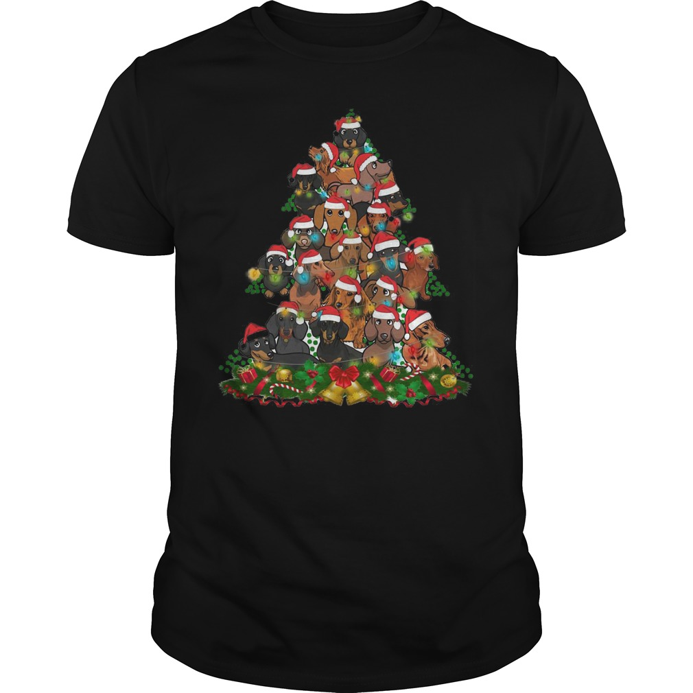 Dachshunds Christmas Tree shirt Classic Guys / Unisex Tee