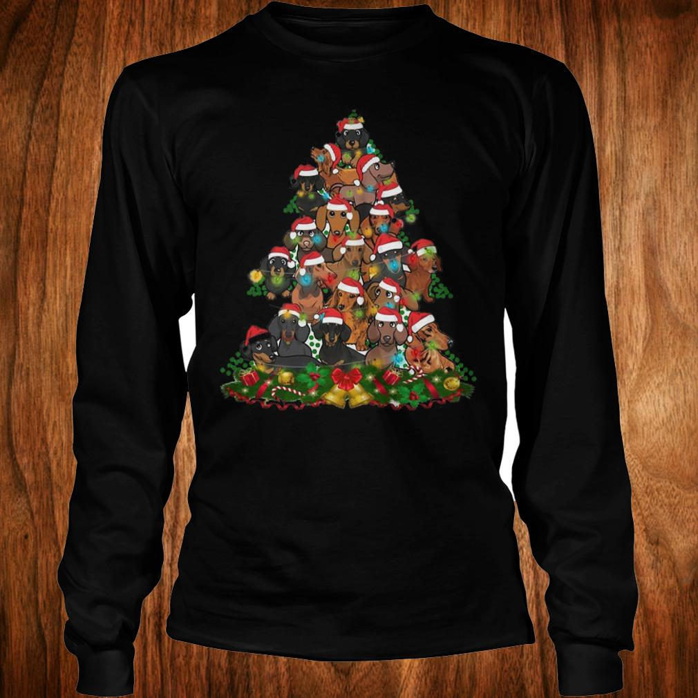 Dachshunds Christmas Tree shirt Longsleeve Tee Unisex