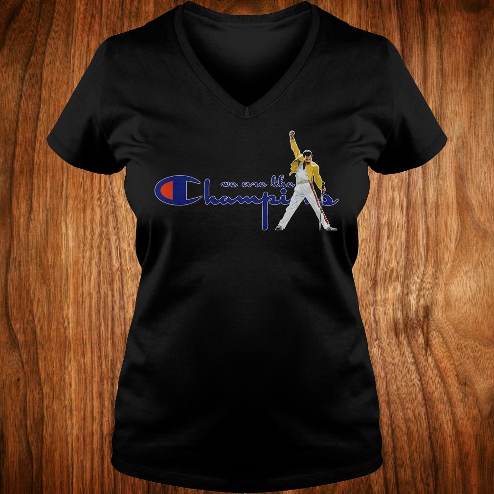 Hot We are the champions shirt Ladies V-Neck