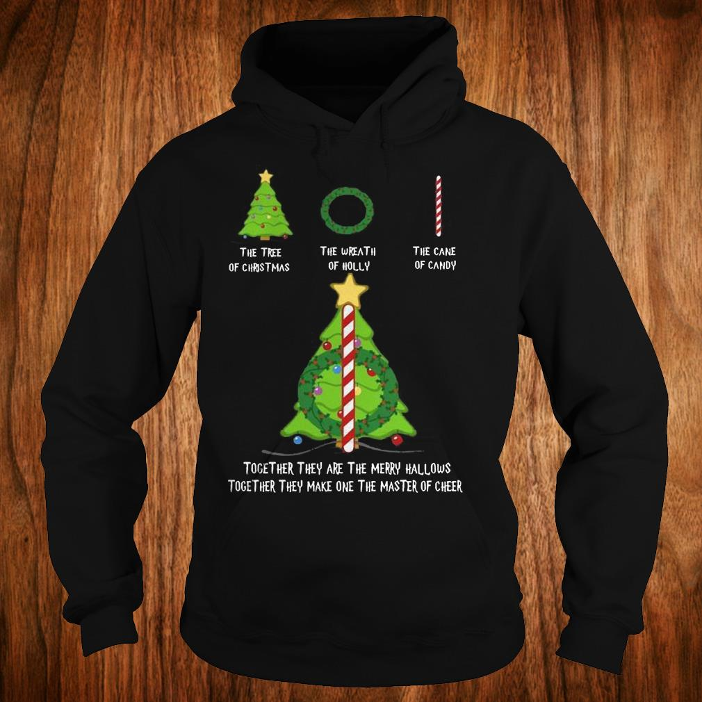 Nice Harry Potter The tree of christmas the wreath of holly the cane of candy shirt