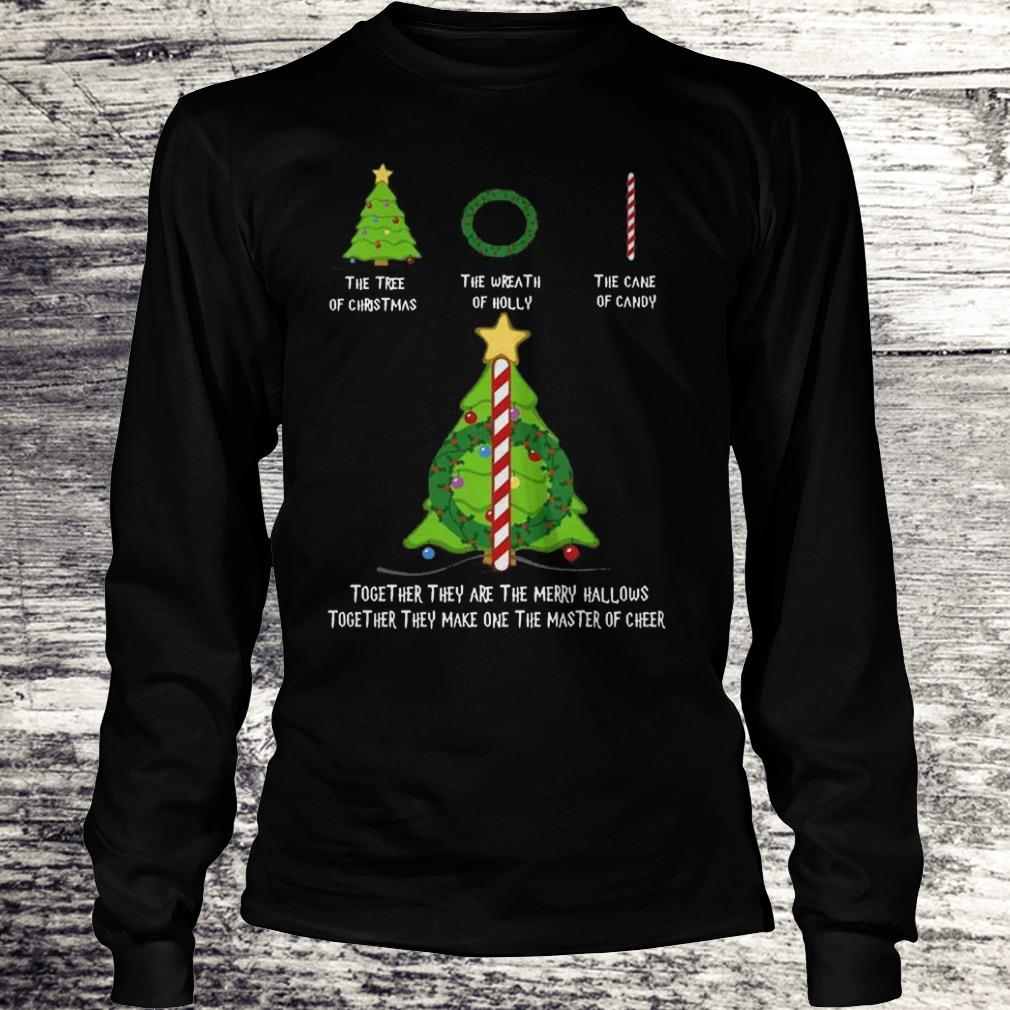Nice Harry Potter The tree of christmas the wreath of holly the cane of candy shirt Longsleeve Tee Unisex