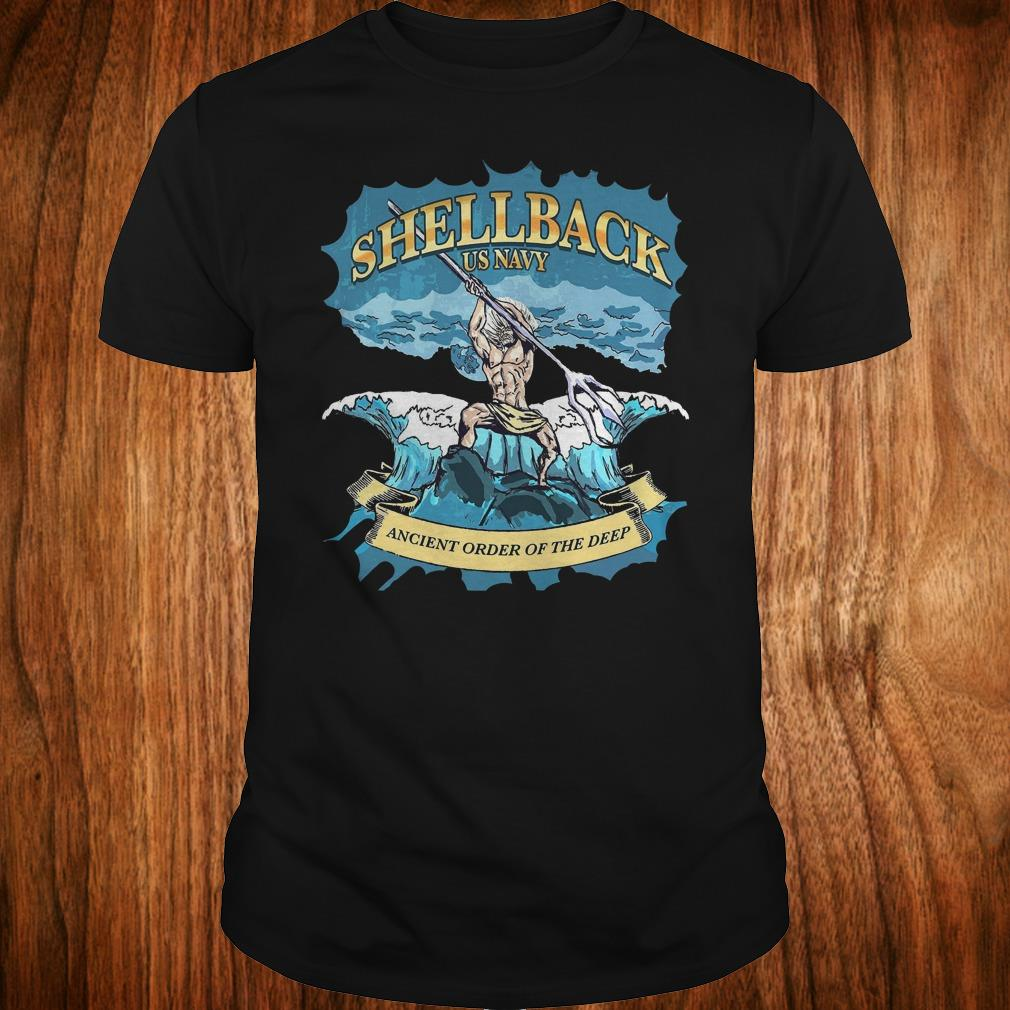 Nice Shellback Us Navy Ancient Order Of the deep shirt Classic Guys / Unisex Tee