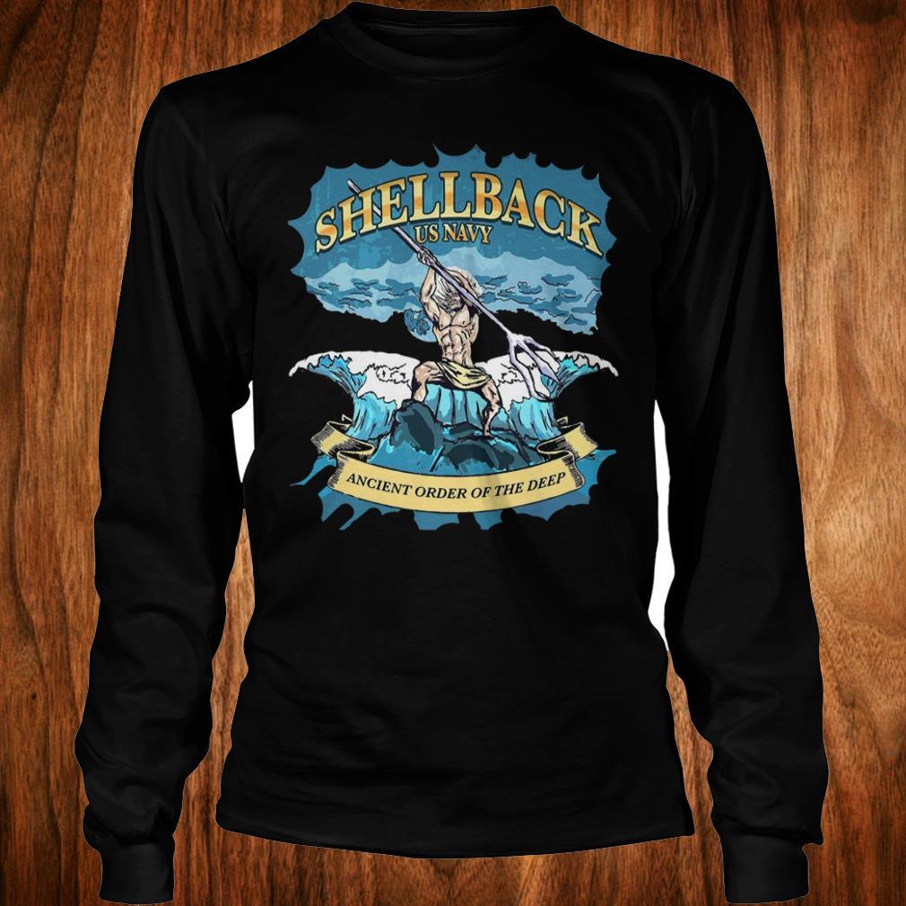 Nice Shellback Us Navy Ancient Order Of the deep shirt Longsleeve Tee Unisex