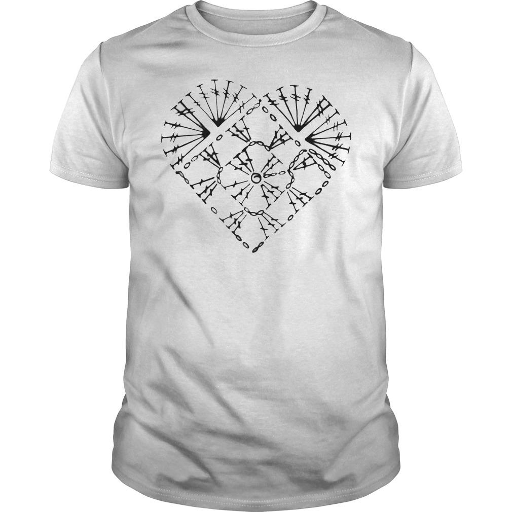 Official Crochet heart chart shirt Classic Guys / Unisex Tee