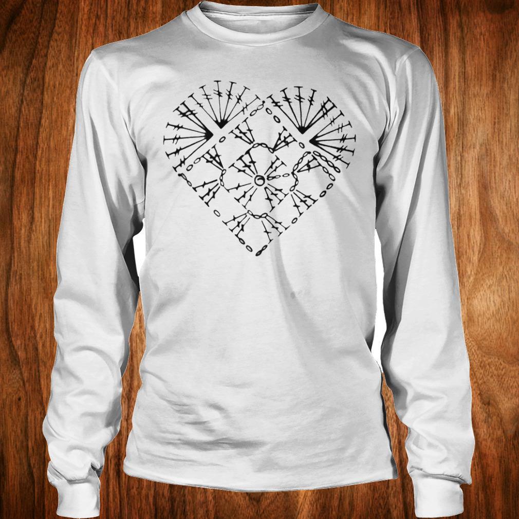 Official Crochet heart chart shirt Longsleeve Tee Unisex