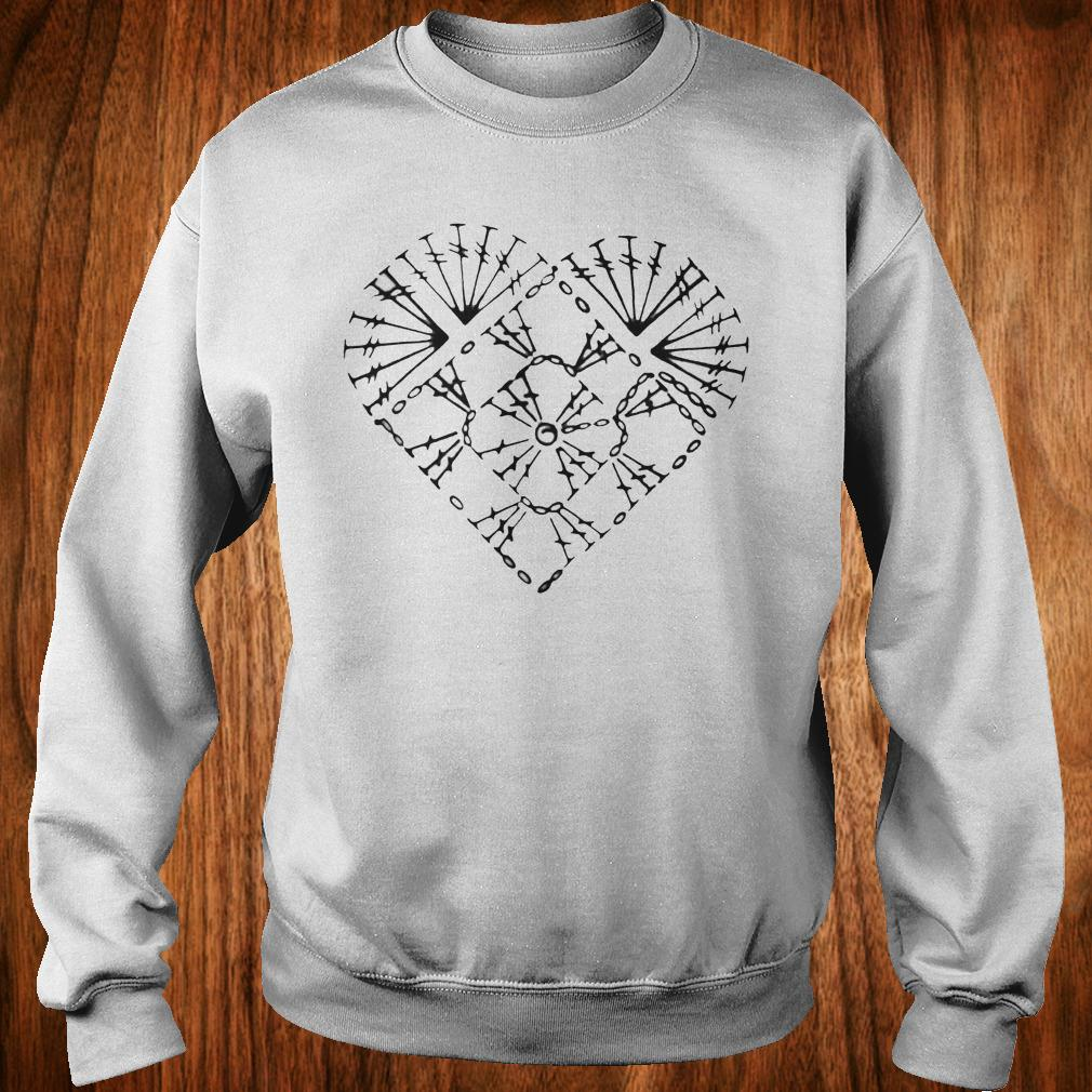 Official Crochet heart chart shirt Sweatshirt Unisex