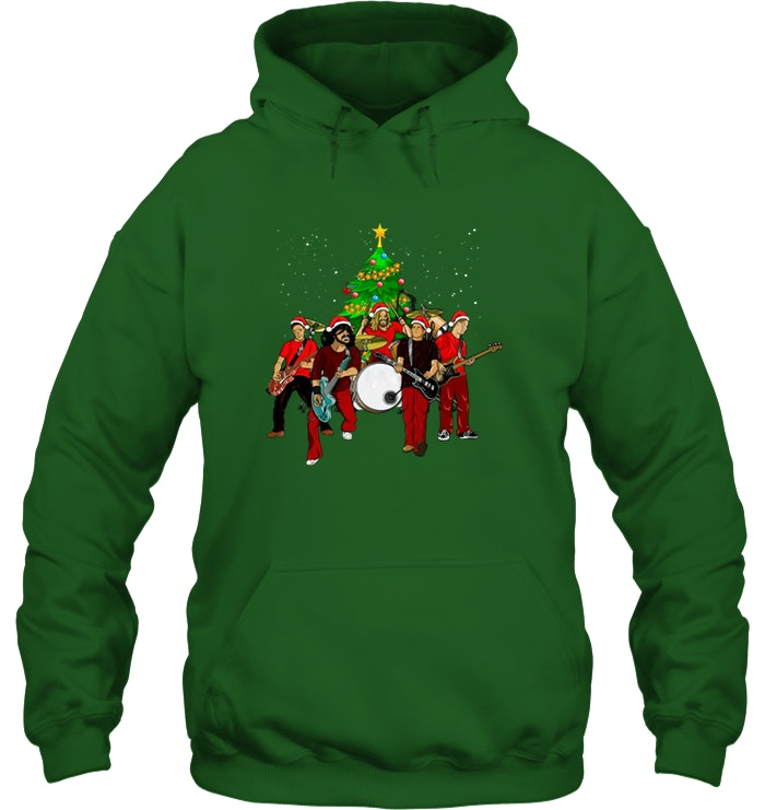 Official Foo Fighters Christmas Tree Shirt Teefamily