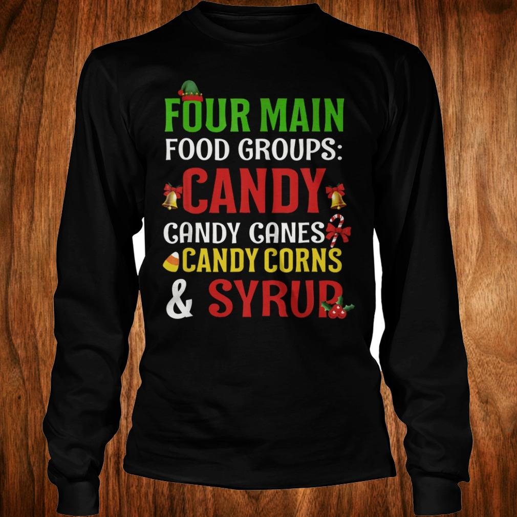 Official Four Main Food Groups candy canes corns syrup shirt Longsleeve Tee Unisex
