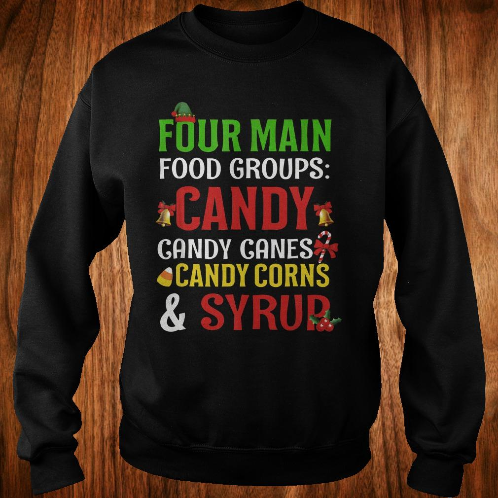 Official Four Main Food Groups candy canes corns syrup shirt Sweatshirt Unisex