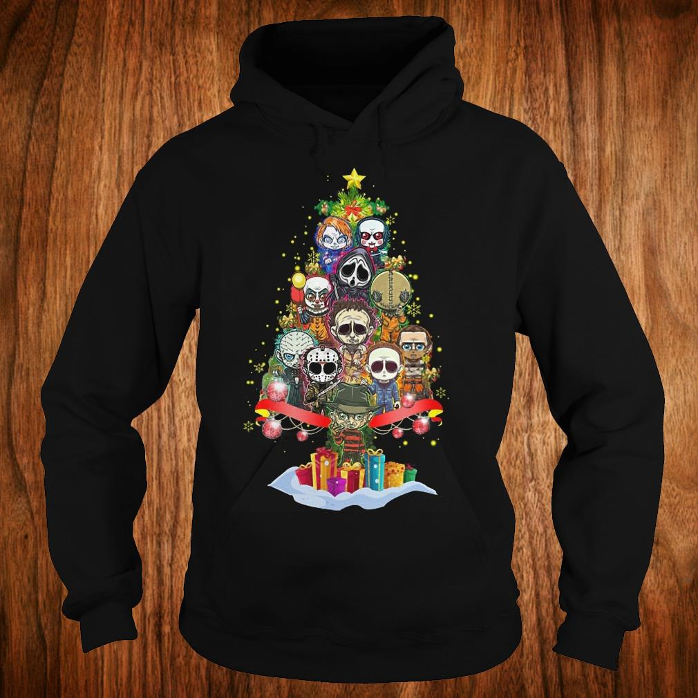 Official Horror characters nightmare christmas tree shirt Hoodie