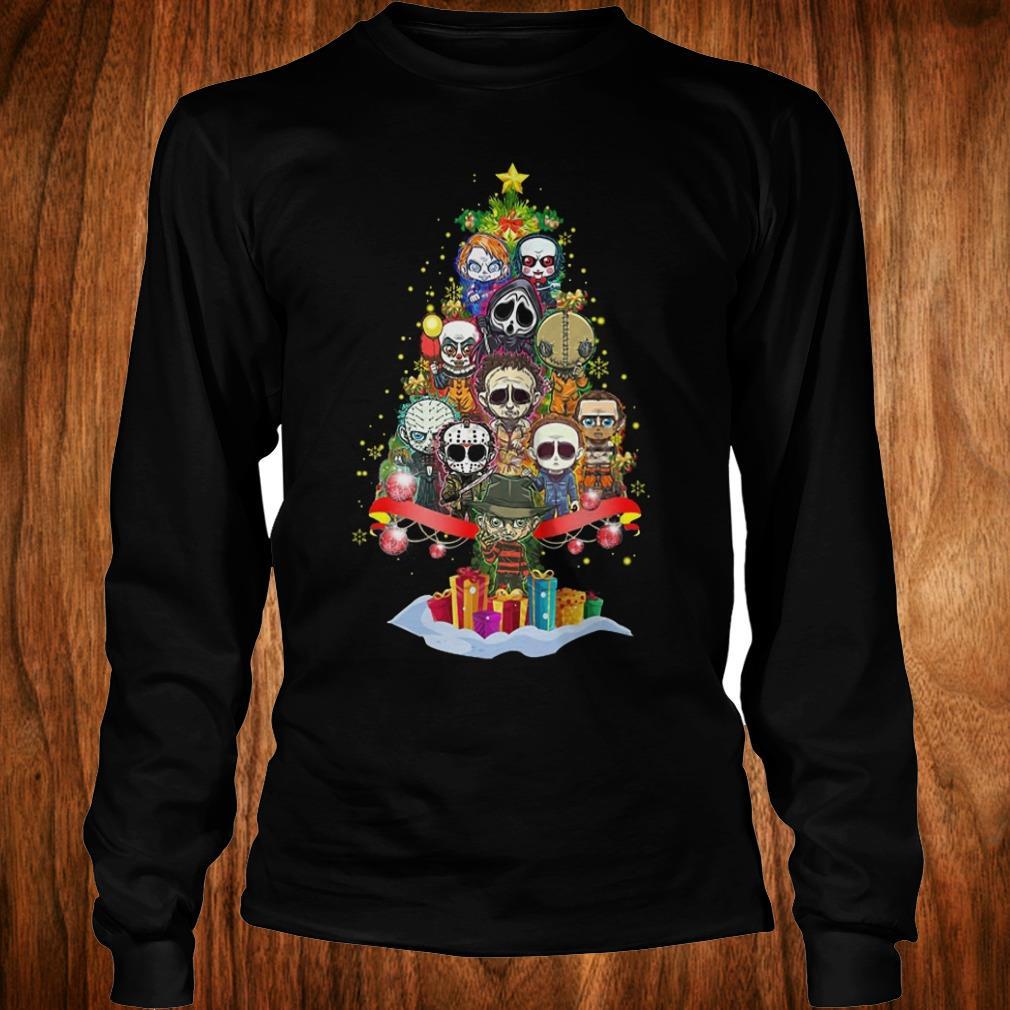 Official Horror characters nightmare christmas tree shirt Longsleeve Tee Unisex
