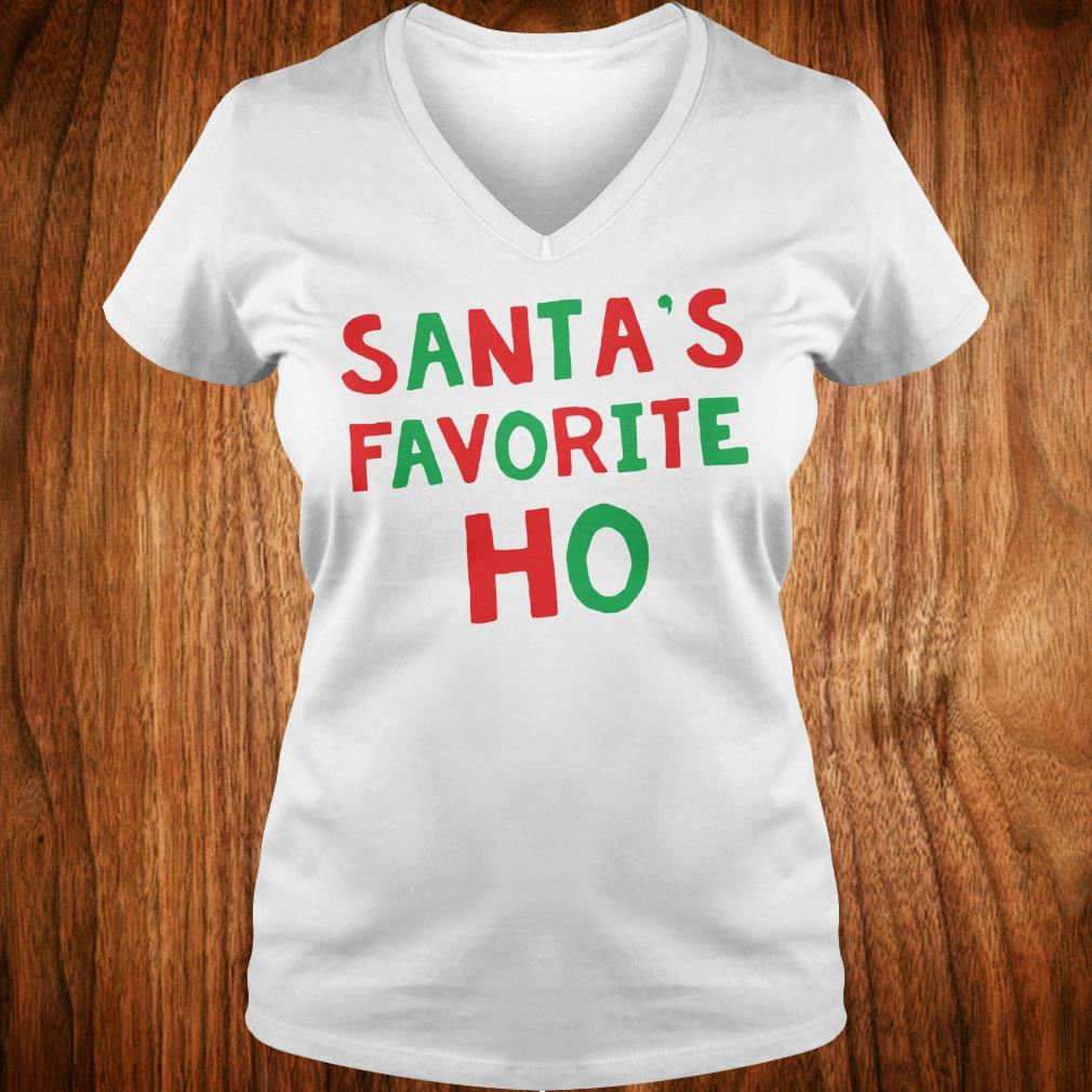 Official Santa's Favorite Ho shirt Ladies V-Neck
