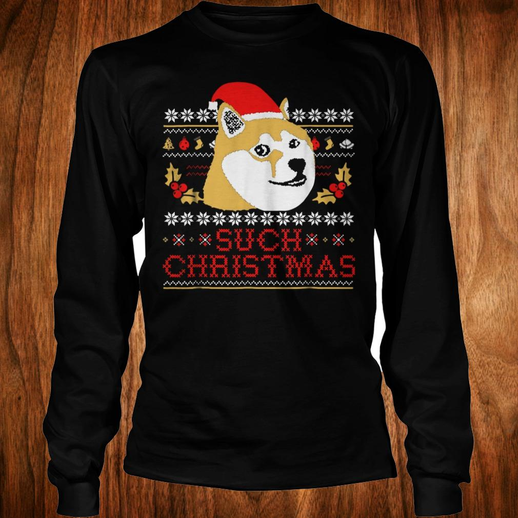 Official Shiba Inu Such Christmas Sweater shirt Longsleeve Tee Unisex