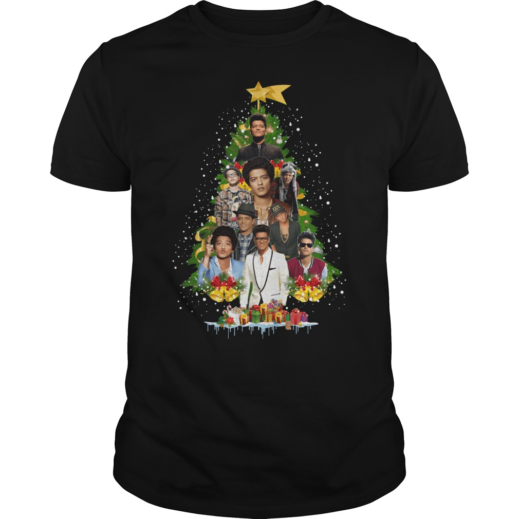Original Bruno Mars Christmas tree shirt