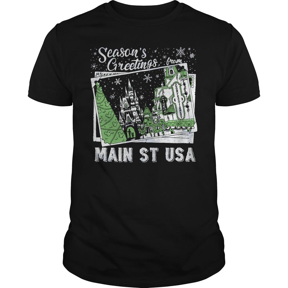 Original Season's Greetings from Main St USA shirt Classic Guys / Unisex Tee