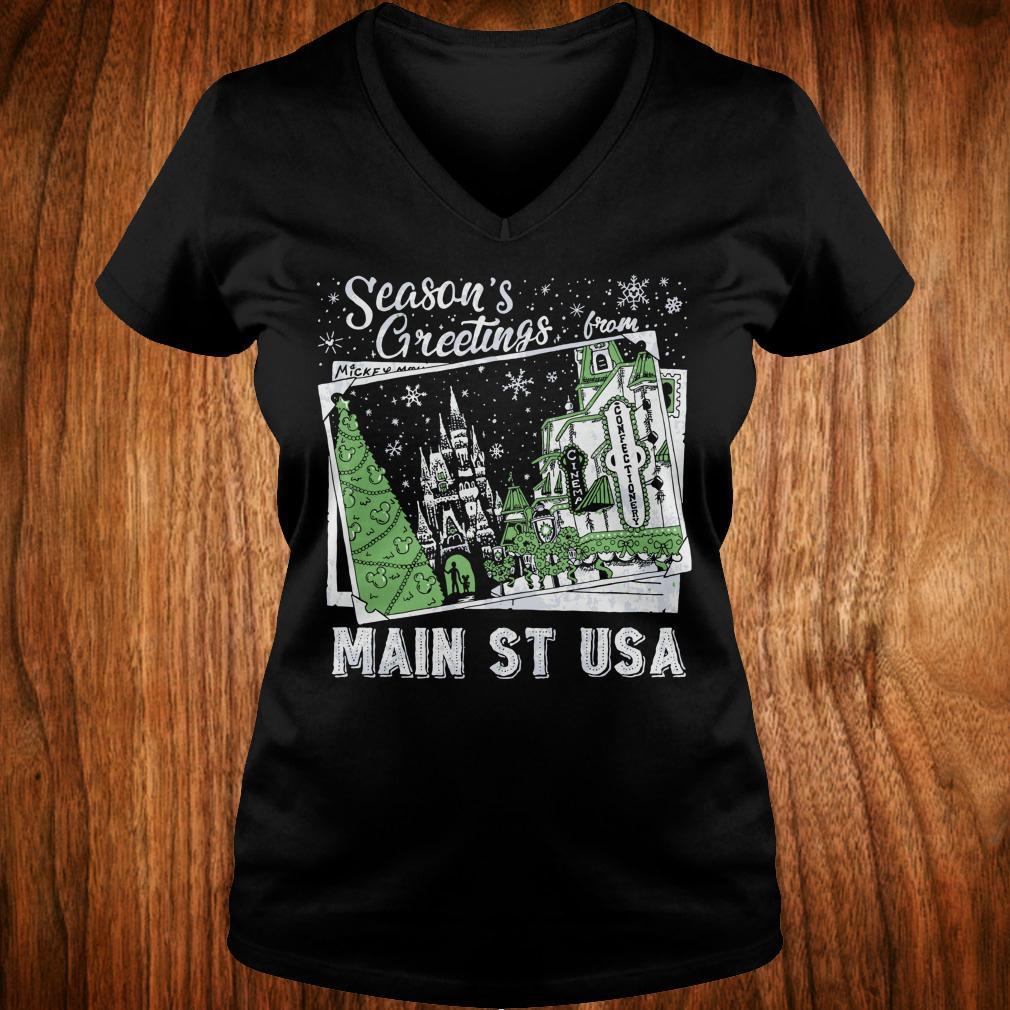Original Season's Greetings from Main St USA shirt Ladies V-Neck