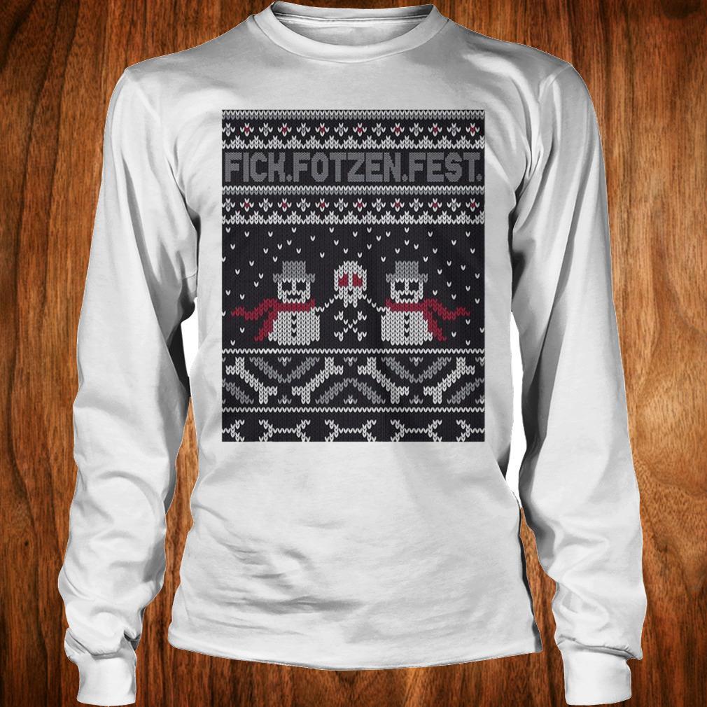 Premium Fick Fotzen Fest Ugly Sweater Longsleeve Tee Unisex
