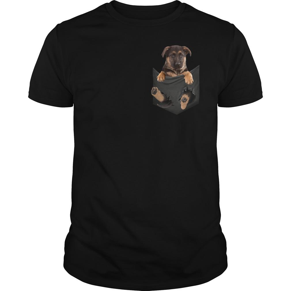 Premium German Shepherd Baby Dog in Tiny Pocket shirt
