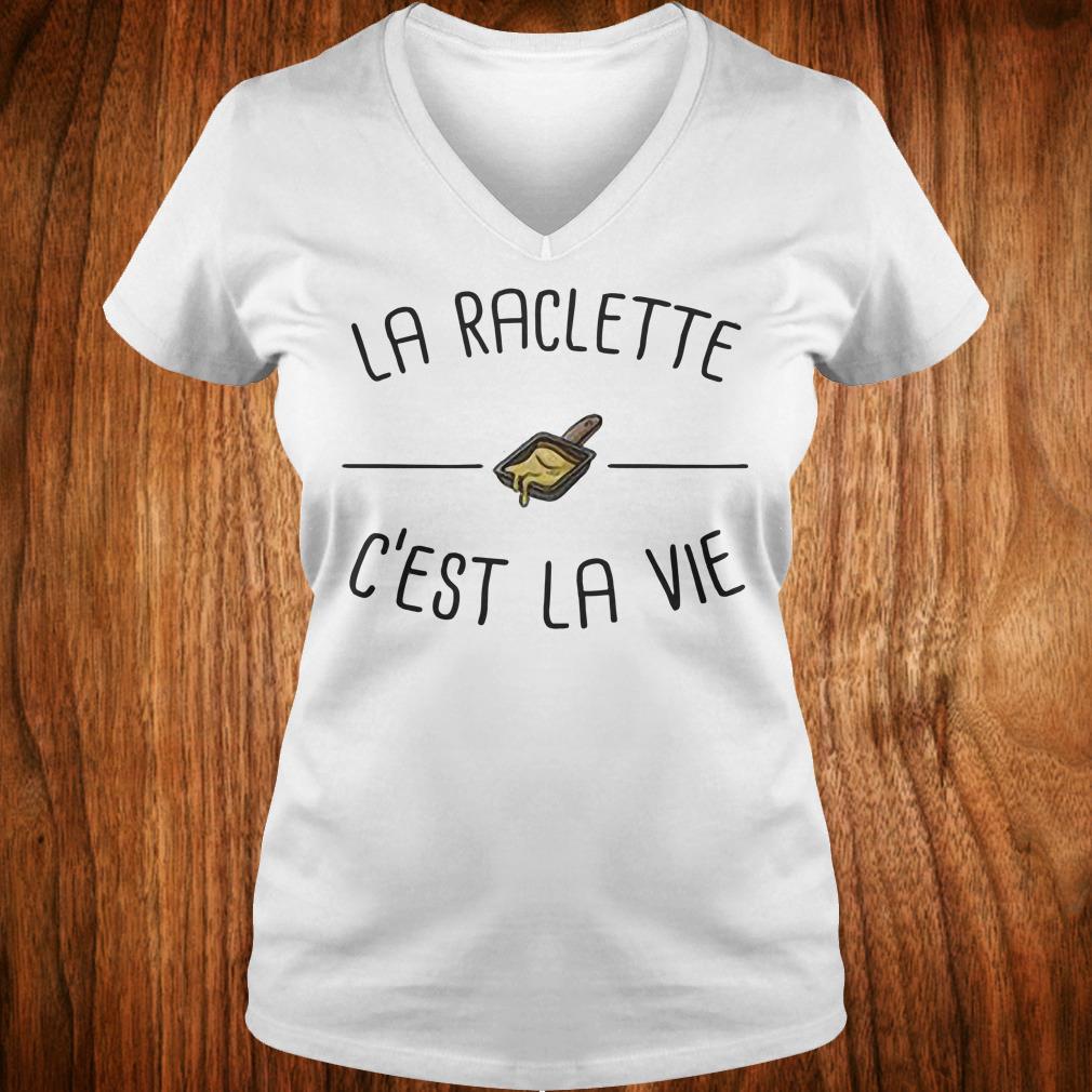 Premium La raclette C'est la vie shirt Ladies V-Neck