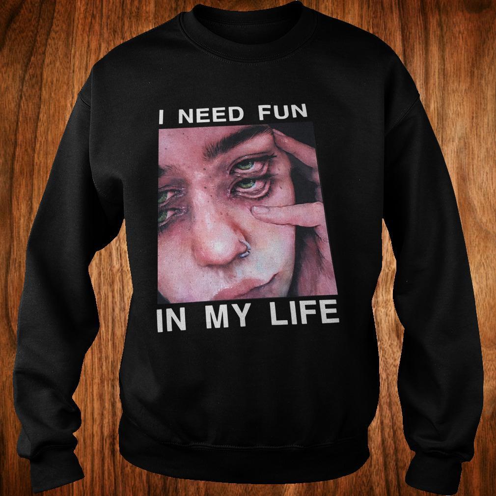 Premium The Drums Surreal Glitchy I need fun in my life shirt Sweatshirt Unisex
