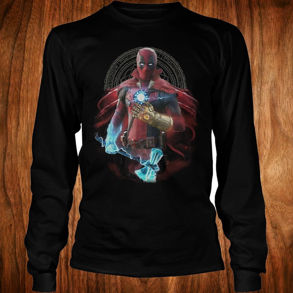 The best Avengers Infinity Deadpool Doctor Strange Iron Man Thanos Thor shirt Longsleeve Tee Unisex