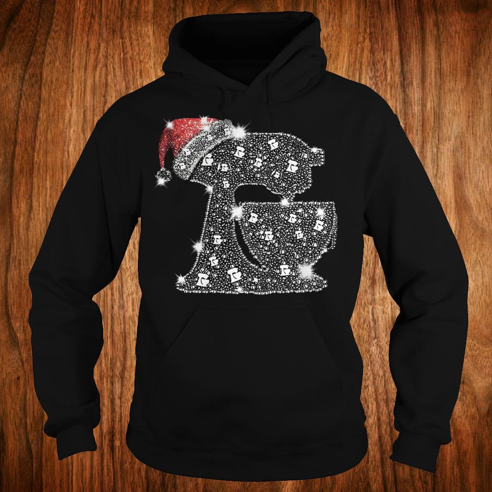 The best Snoopy Baking Glitter and rhinestones with santa hat shirt