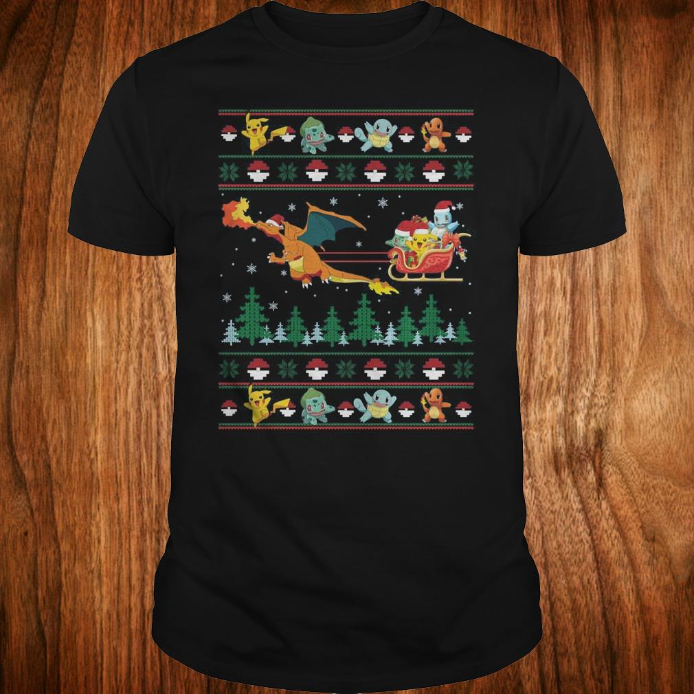 Top Christmas Pokemon Sweater shirt Classic Guys / Unisex Tee