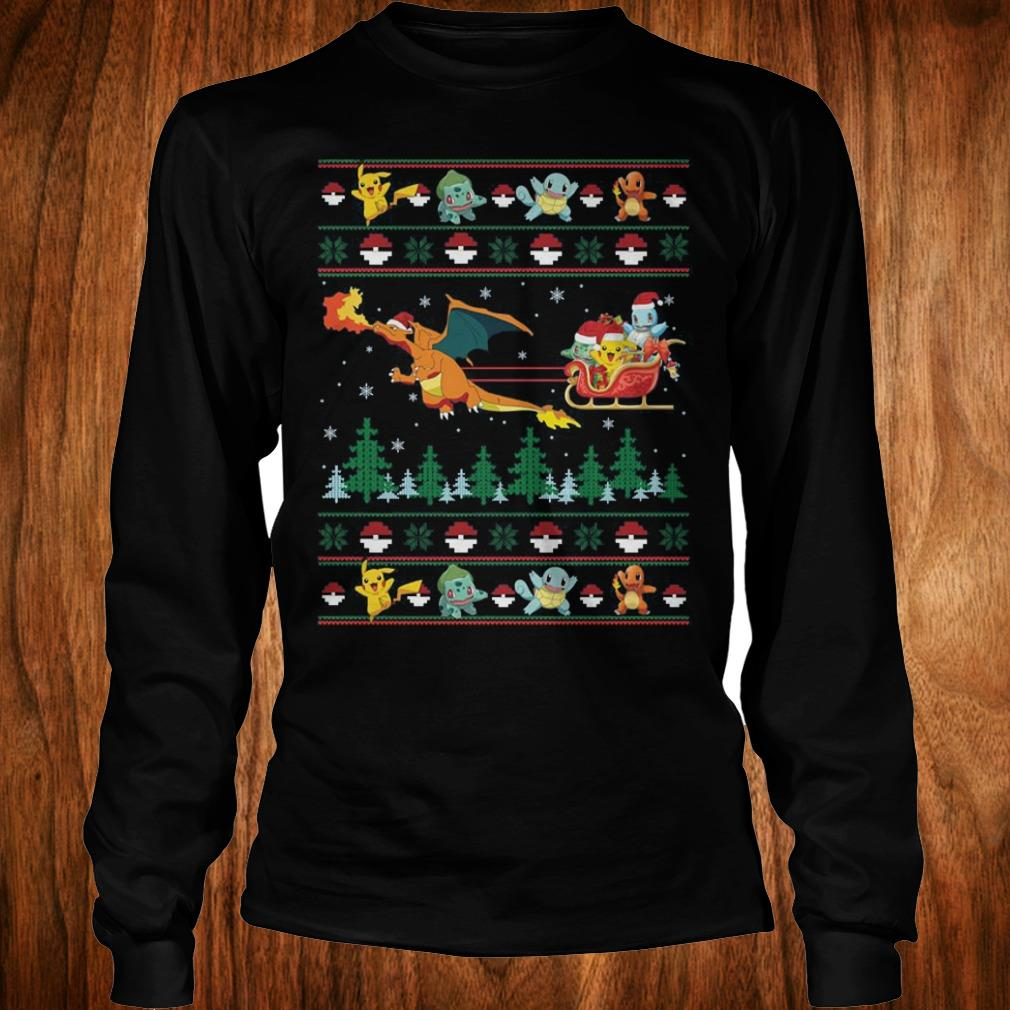Top Christmas Pokemon Sweater shirt Longsleeve Tee Unisex