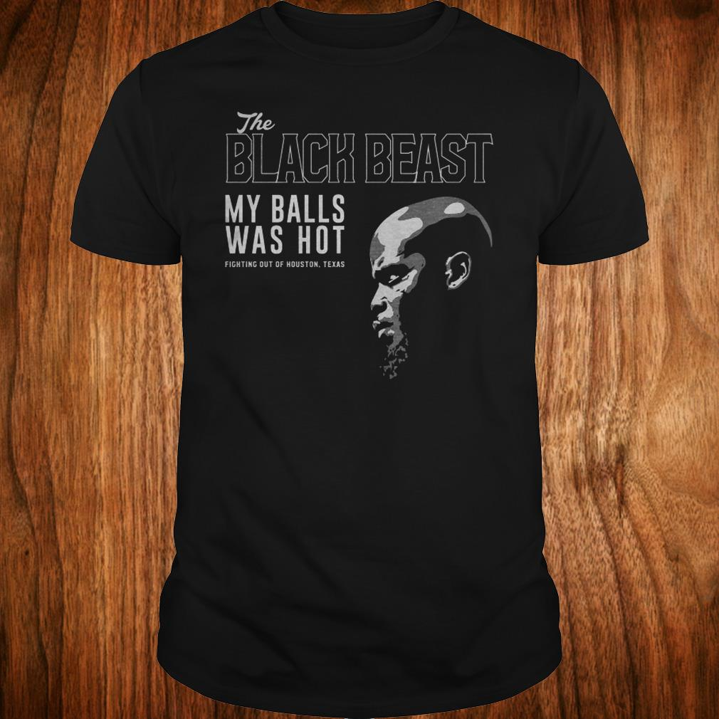 Top Derrick Lewis The black beast my balls was hot shirt