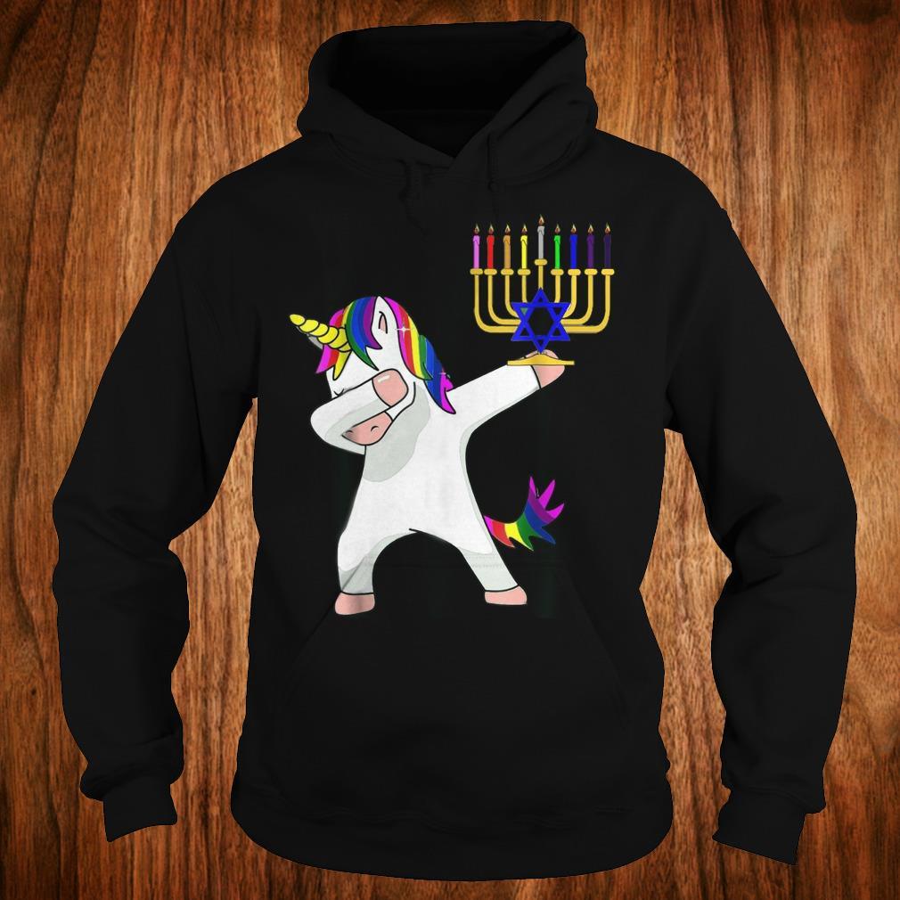 Top Unicorn Dabbing Hanukkah shirt