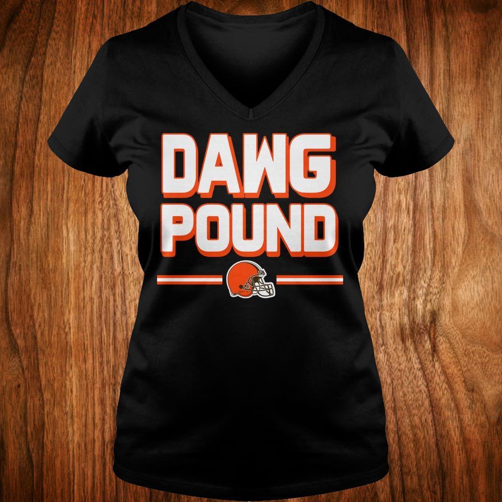 Top l Cleveland Dawg Pound shirt Ladies V-Neck