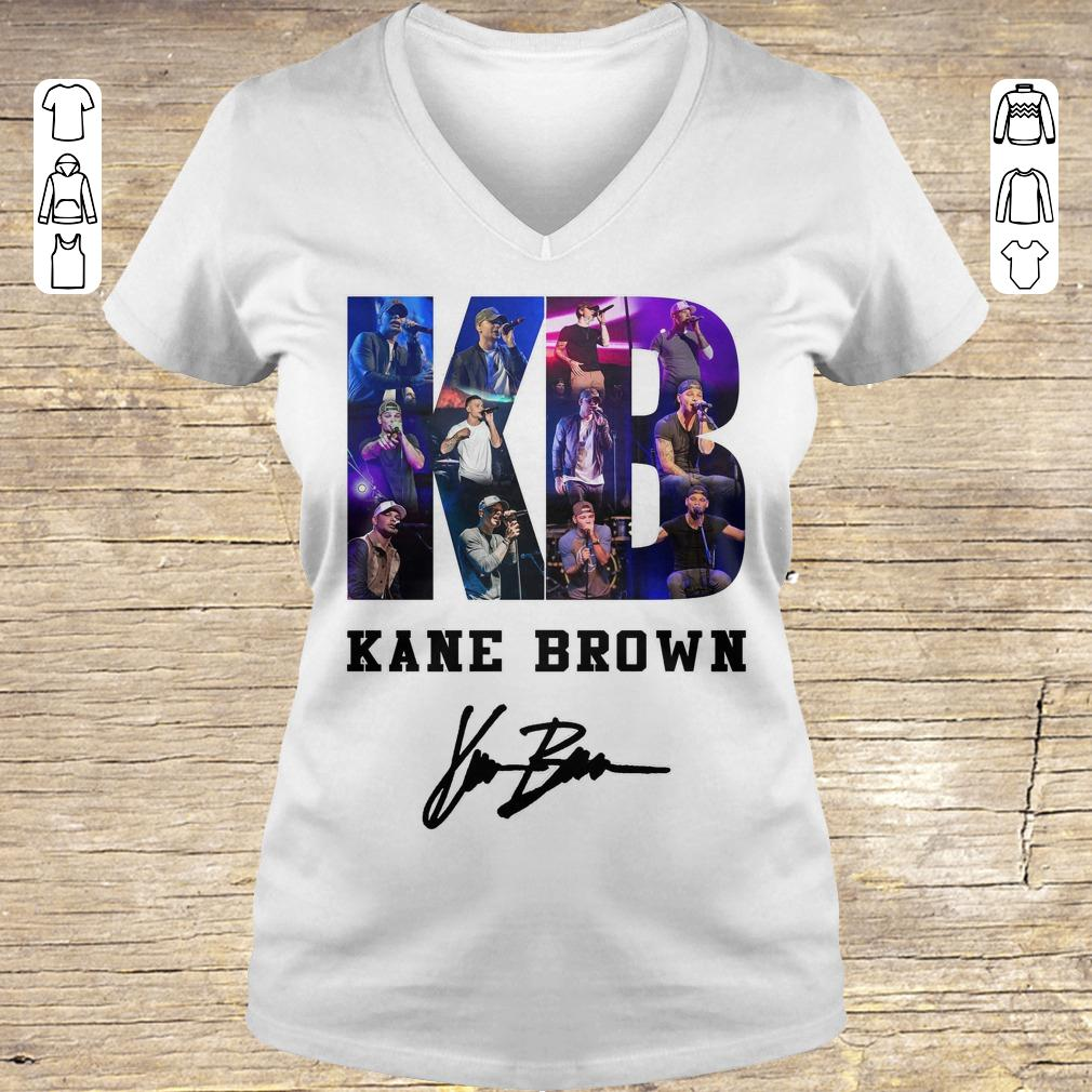 Awesome Kane Brown Signed Autograph shirt Ladies V-Neck