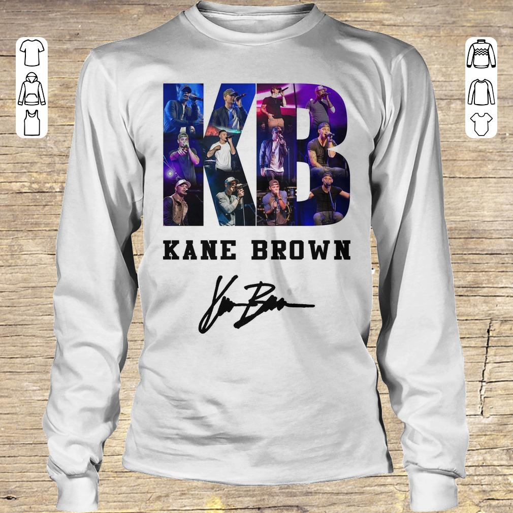 Awesome Kane Brown Signed Autograph shirt Longsleeve Tee Unisex