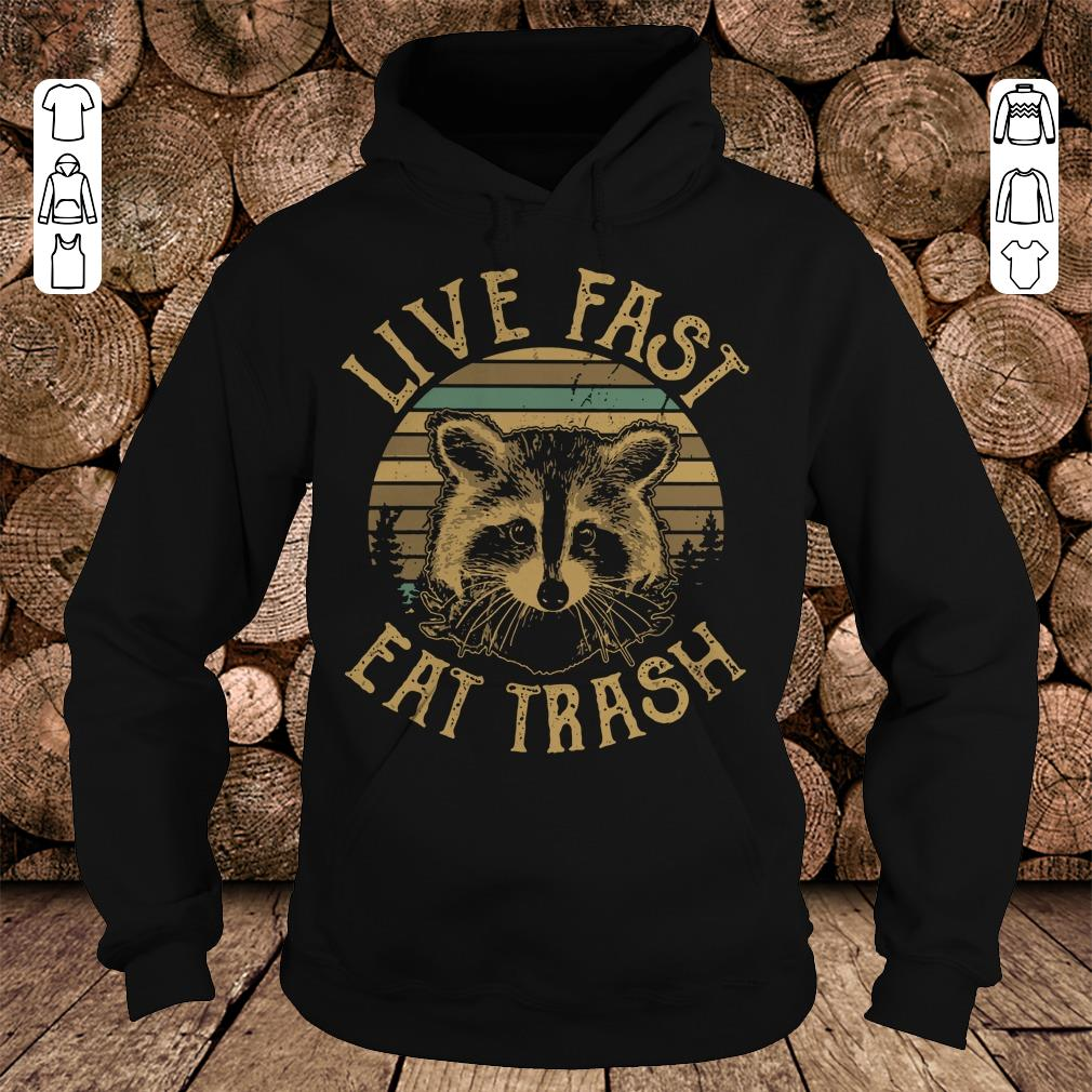 Awesome Sunset Camping Live fast eat trash Raccoon shirt sweater Hoodie