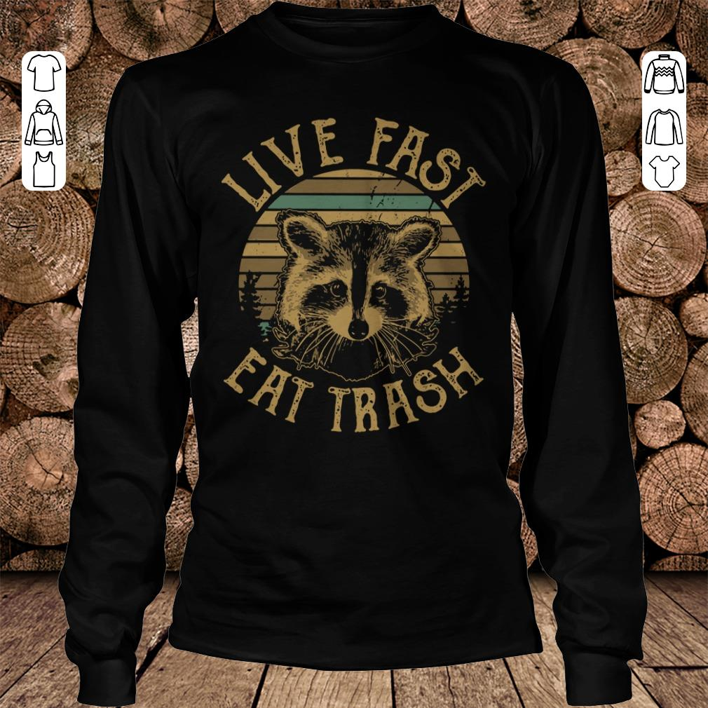 Awesome Sunset Camping Live fast eat trash Raccoon shirt sweater Longsleeve Tee Unisex