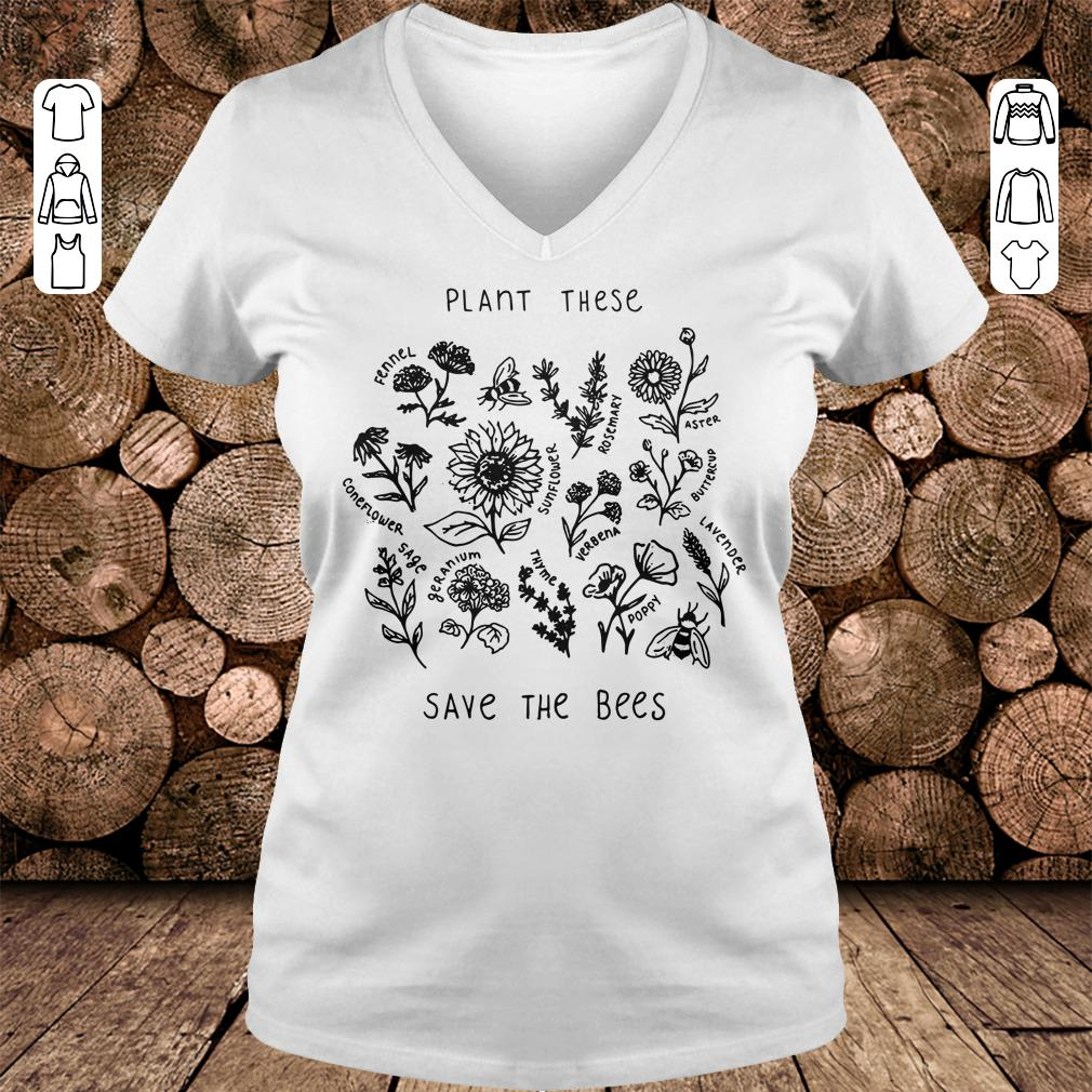 Awesome The bees Plant these save shirt longsleeve Ladies V-Neck