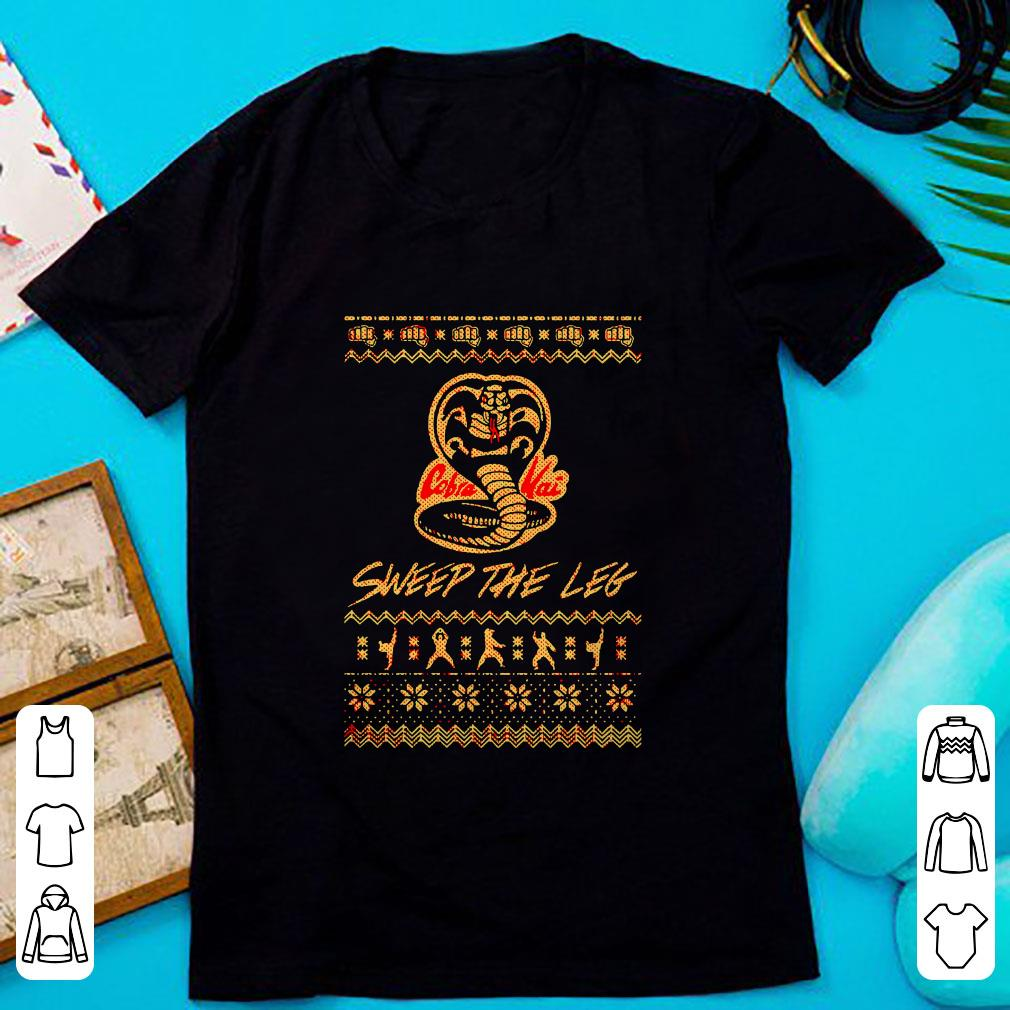 Cute Christmas the Leg Karate Dojo Cobra Kai sweep the leg shirt