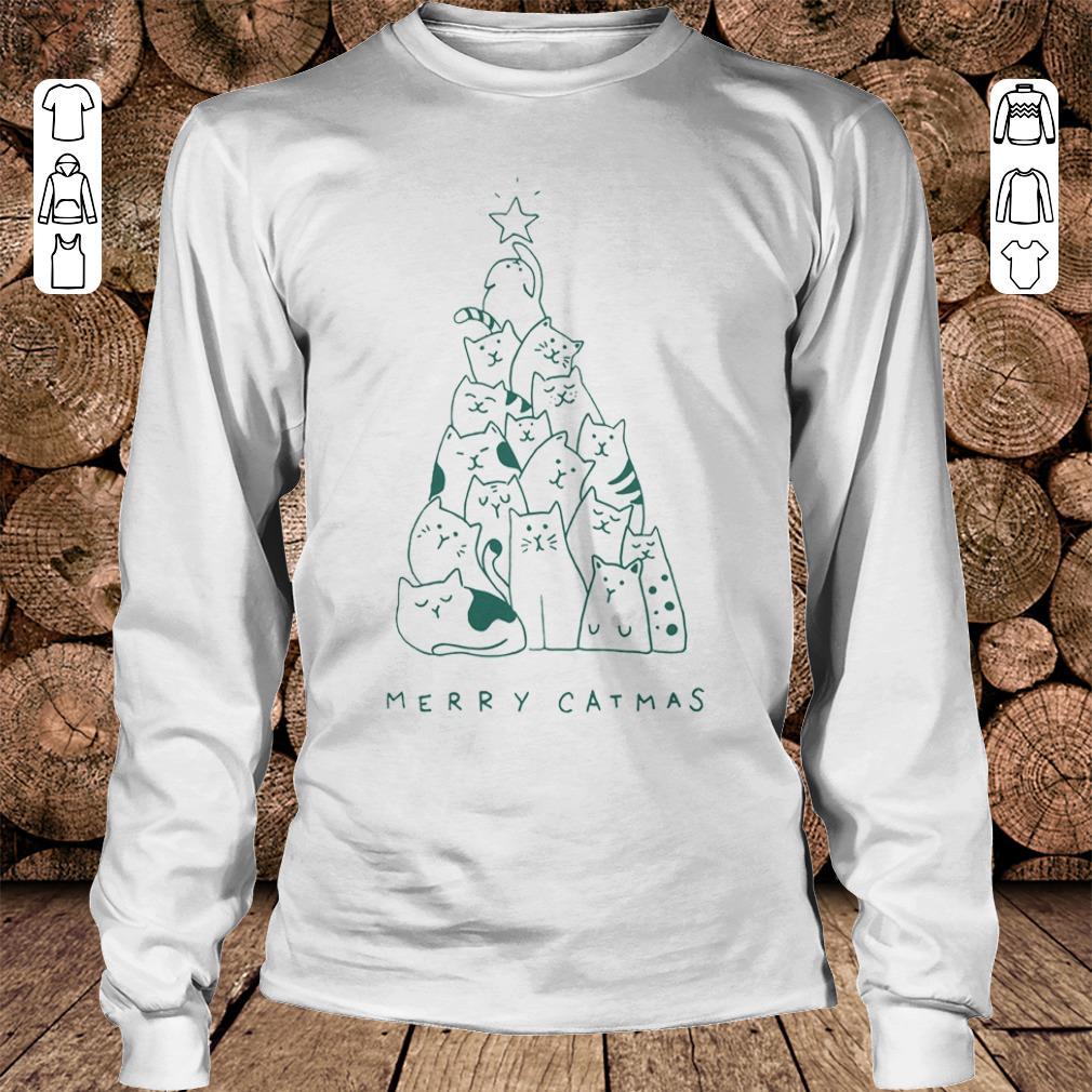 Funny Merry catmas shirt hoodie Longsleeve Tee Unisex