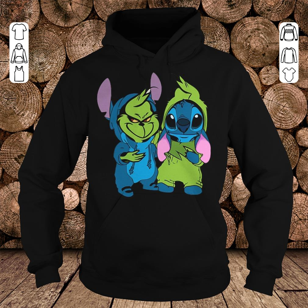 Hot Grinch and Stitch shirt longsleeve Hoodie