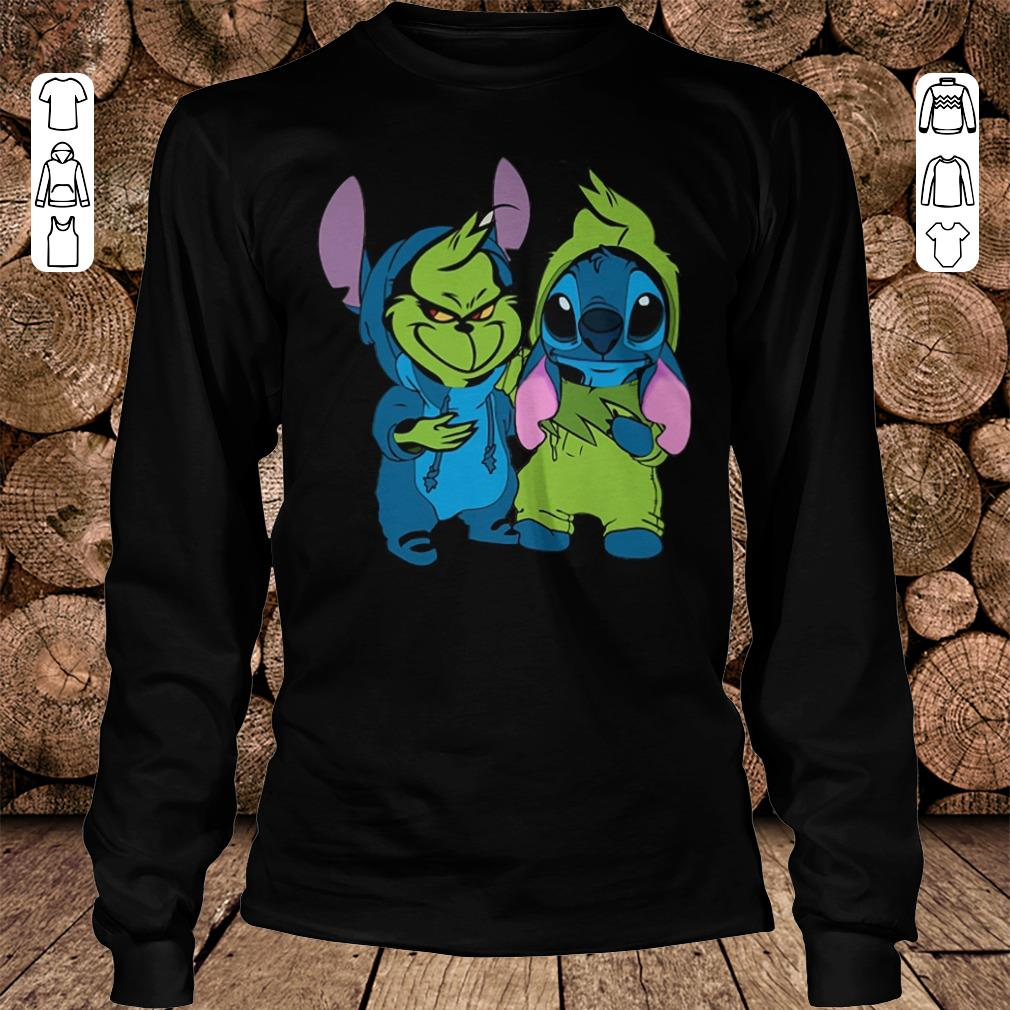 Hot Grinch and Stitch shirt longsleeve Longsleeve Tee Unisex